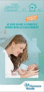Brochure Ameli sur le suivi à domicile après accouchement